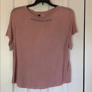 Pink t-shirt Girls Bite Back